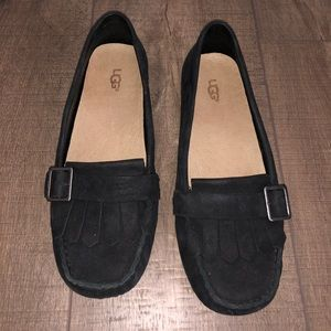 UGG Black suede loafers